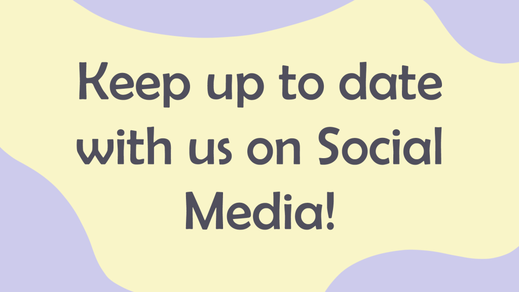 text= keep up to date with us on social media